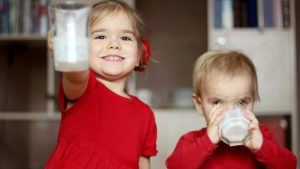 Children Wearing Red